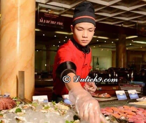 Nhà hàng Hương Sen/ địa chỉ ăn buffet hải sản ở Hà Nội: Đi ăn buffet ở đâu Hà Nội ngon, bổ, rẻ?