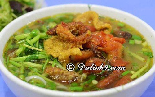 Phố canh cá - khu vực đường Hai Bà Trưng, Tp. Thái Bình: Du lịch Thái Bình nên ăn ở đâu? Quán ăn ngon giá rẻ ở Thái Bình