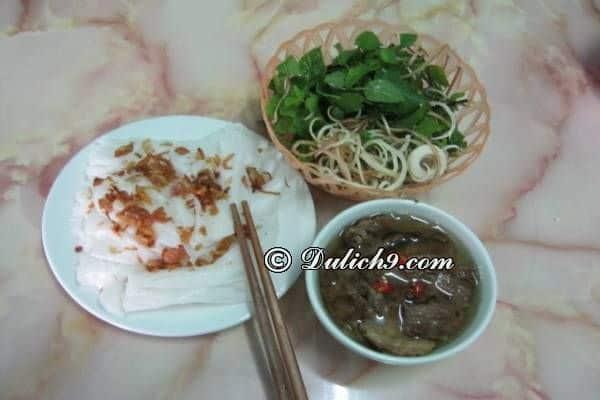 Bánh cuốn Phủ Lý/ món ăn nổi tiếng khi du lịch Hà Nam: Đặc sản Hà Nam ngon, bổ, rẻ