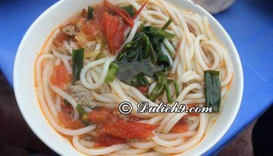 Bún đũa/ món ăn đặc trưng khi du lịch Nam Định: Nên ăn gì khi đi phượt Nam Định?