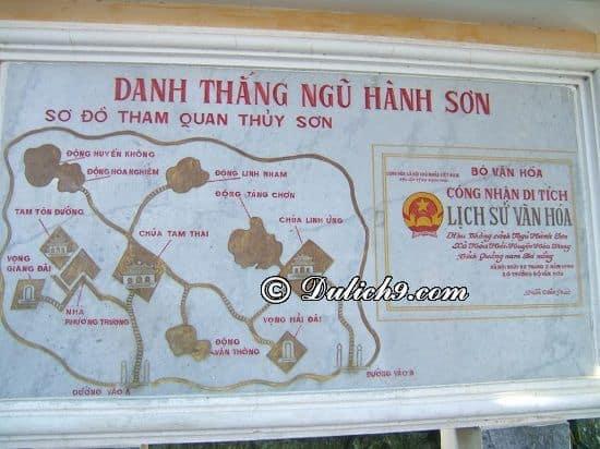 Đường đi tới khu du lịch Ngũ Hành Sơn, Đà Nẵng: Du lịch Ngũ Hành Sơn chơi gì vui, ăn gì ngon?