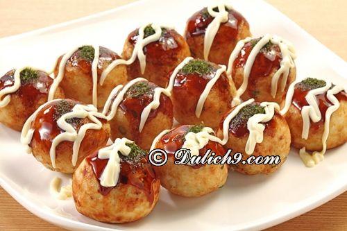 Món Takoyaki/ món ngon nên thưởng thức ở Osaka: Kinh nghiệm ăn uống khi du lịch Osaka