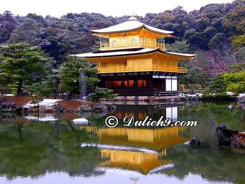 Chùa vàng Kinkaku-ji/ địa điểm nổi tiếng ở Kyoto: Du lịch Kyoto đi đâu chơi vui, thú vị nhất?