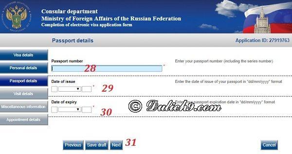 Cách điền bản khai điện tử xin visa đi Russia: Hướng dẫn các bước điền đơn xin visa đi Nga trực tuyến