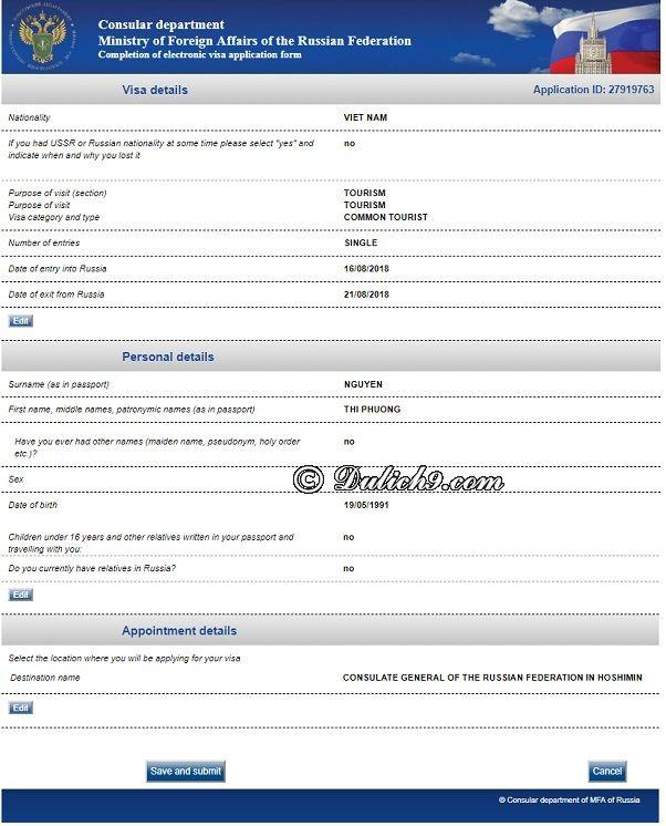 Cách điền form xin visa trực tuyến đi Nga chi tiết: Hướng dẫn điền đơn xin visa online từ A-Z