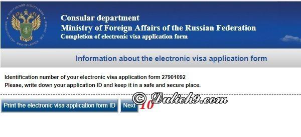 Điền form xin visa đi Nga online như thế nào? Cách khai form xin visa đi Nga điện tử