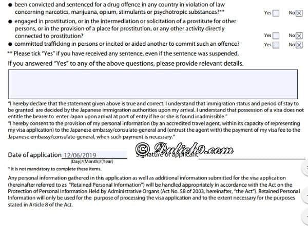Hướng dẫn điền form xin visa đi Nhật Bản: Cách viết đơn xin visa đi Nhật Bản