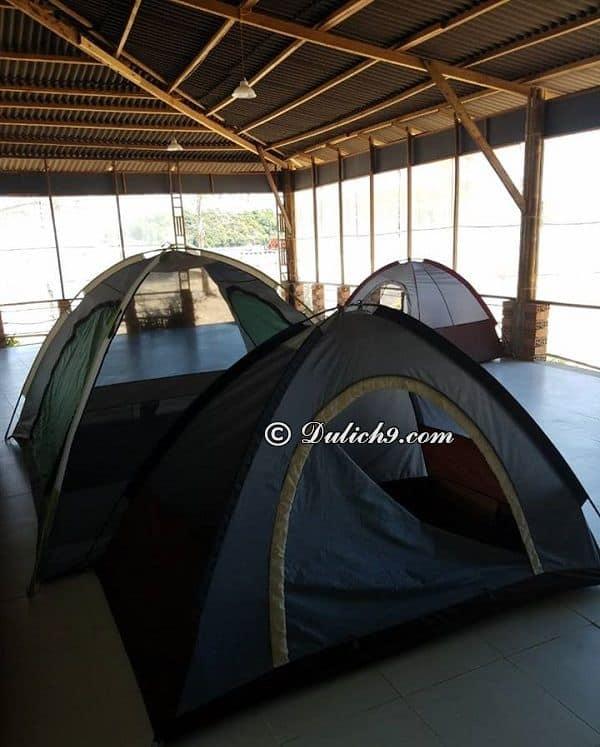 Kinh nghiệm phượt quần đảo Bà Lụa: Thuê nhà nghỉ, lều trại ở quần đảo Bà Lụa
