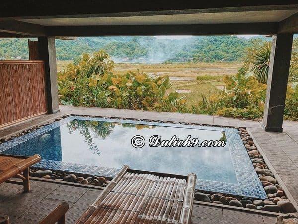 Hồ bơi giữa đỉnh đồi - Kinh nghiệm đi Mai Châu Ecolodge tự túc, giá rẻ