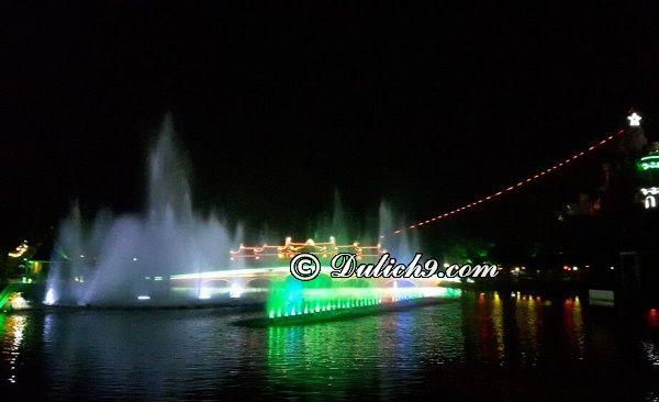 Chơi gì ở khu du lịch Long Điền Sơn? Biểu diễn nhạc nước ở khu du lịch Long Điền Sơn