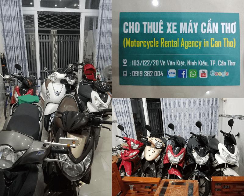 Cửa hàng cho thuê xe máy Cần Thơ giá rẻ, giao tận nơi