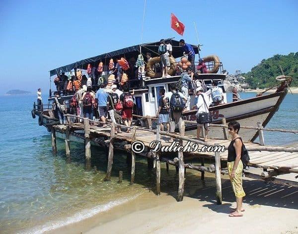 Du lịch Cù Lao Chàm 2 ngày 1 đêm giá rẻ. Tàu chợ ra đảo Cù Lao Chàm