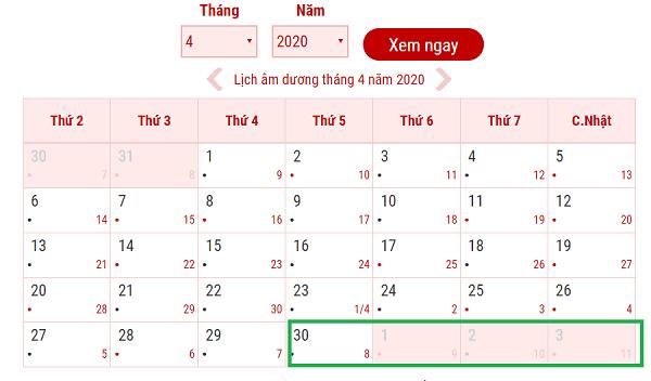 Lịch nghỉ giỗ tổ Hùng Vương và 30/4 - 1/5 - 2020. Nghỉ lễ giỗ tổ Hùng Vương và 30/4, 1/5 nên đi đâu chơi?