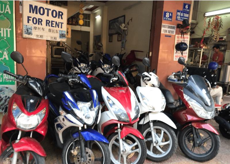 Những địa điểm cho thuê xe máy Nha Trang