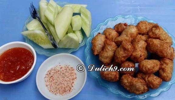 Nem chua rán 267/ Những quán ăn vặt ngon rẻ tại Quận Long Biên. Địa điểm ăn vặt ngon ở Long Biên