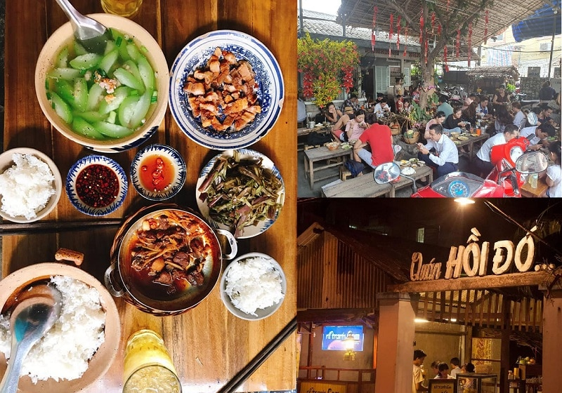 Các quán ăn ngon ở Cần Thơ giá bình dân. Địa điểm ăn uống ngon rẻ Cần Thơ. Quán Hồi Đó
