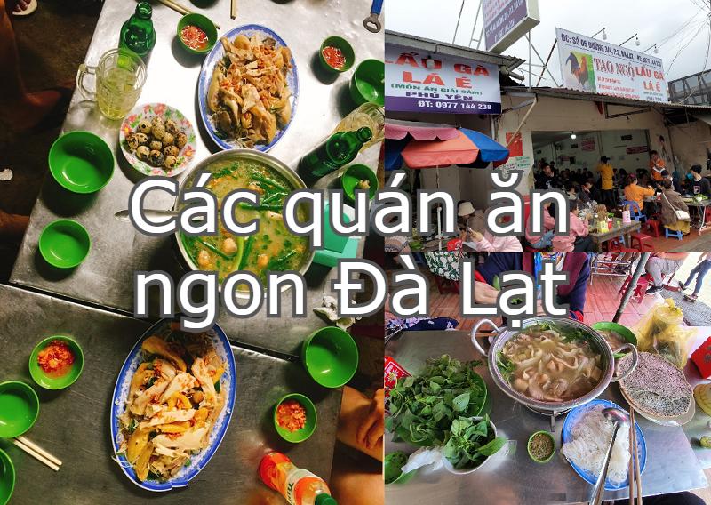 Các quán ăn ngon ở Đà Lạt. Địa điểm ăn uống Đà Lạt. Lẩu gà lá é Tao Ngộ