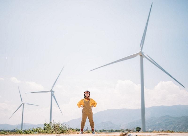 Kinh nghiệm đi Ninh Thuận, Ninh Thuận có gì đẹp, cánh đồng điện gió Ninh Thuận
