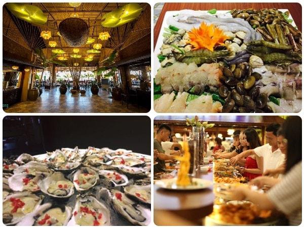 Quán hải sản Hạ Long, nhà hàng buffet Hải Sản Lạ Long, Buffet Sen Á Đông