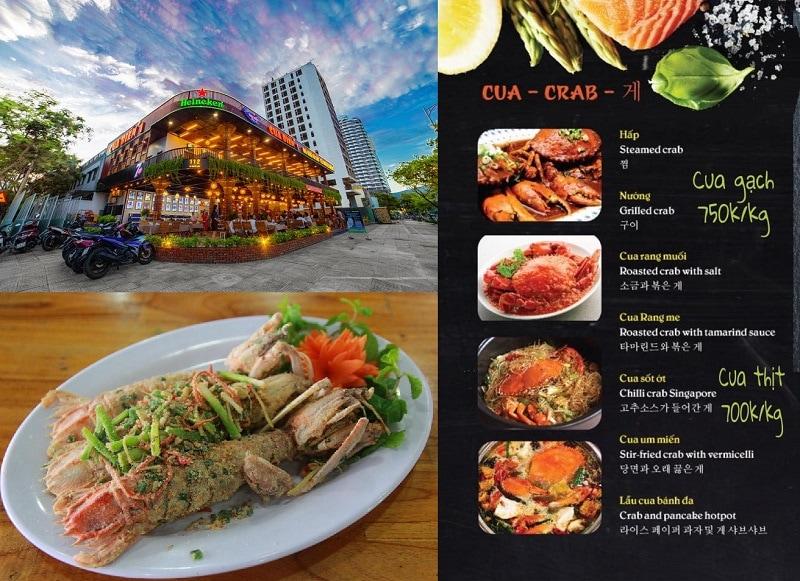 Nhà hàng hải sản ngon ở Đà Nẵng view đẹp. Ăn hải sản ở đâu Đà Nẵng ngon? Nhà hàng Cua Biển