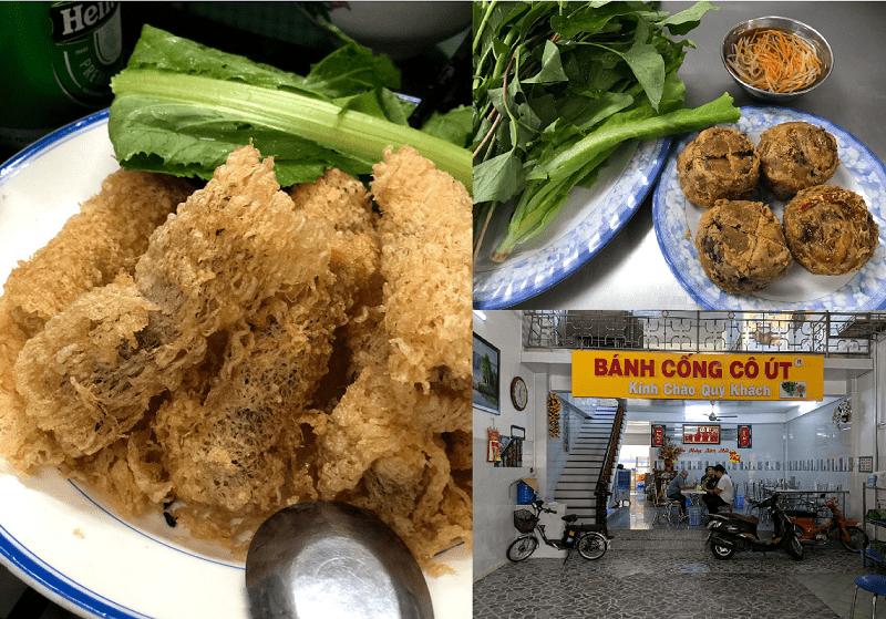 Những quán ăn ngon Cần Thơ giá rẻ. Địa điểm ăn uống Cần Thơ. Bánh cống cô Út