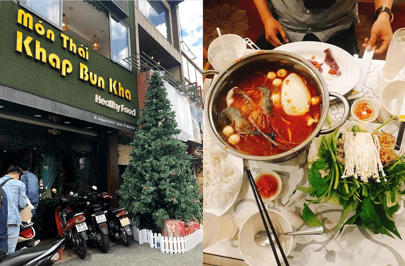 Những quán ăn ngon rẻ ở Đà Lạt. Địa điểm ăn uống Đà Lạt. Lẩu Khap Bun Kha