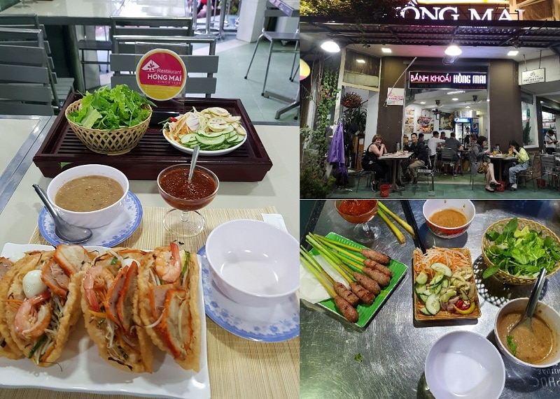 Quán ăn đặc sản ngon ở Huế. Kinh nghiệm ăn uống ở Huế. Bánh khoái Hồng Mai