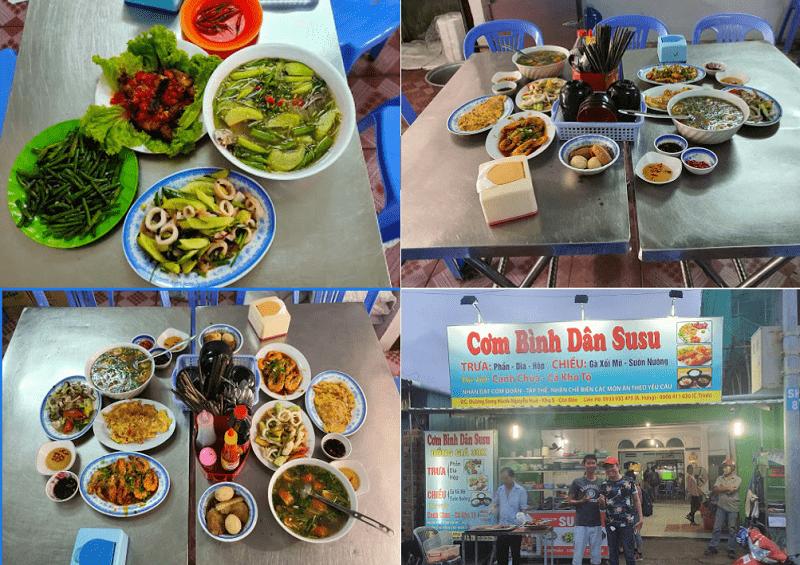 Quán ăn giá rẻ ở Côn Đảo, quán cơm Su Su