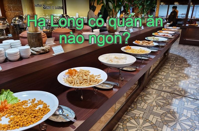 Review quán ăn ngon ở Hạ Long nổi tiếng. Nhà hàng ngon ở Hạ Long. Buffet sen Á Đông