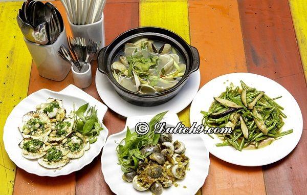 Ốc Vịnh Nhỏ/ quán ăn vặt ngon, bổ rẻ Quận 2 Sài Gòn. Địa điểm ăn uống ngon, nổi tiếng ở quận 2, TP Hồ Chí Minh
