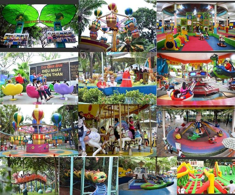 Kinh nghiệm đi chơi công viên Đầm Sen. Công viên Đầm Sen khu vui chơi trẻ em