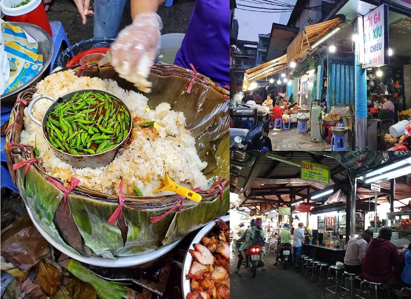 Địa điểm ăn uống TPHCM ngon, giá rẻ. Khu ẩm thực ở Sài Gòn. Chợ Bà Chiểu