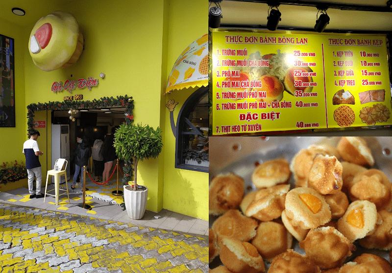 Địa điểm ăn uống Vũng Tàu. Đi Vũng Tàu ăn ở đâu ngon? Bánh bông lan trứng muối Gốc Cột Điện