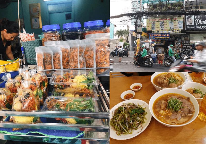 Địa điểm ăn uống ở TPHCM. Ăn ở đâu ngon Sài Gòn? Phố bánh tráng trộn Nguyễn Thượng Hiền
