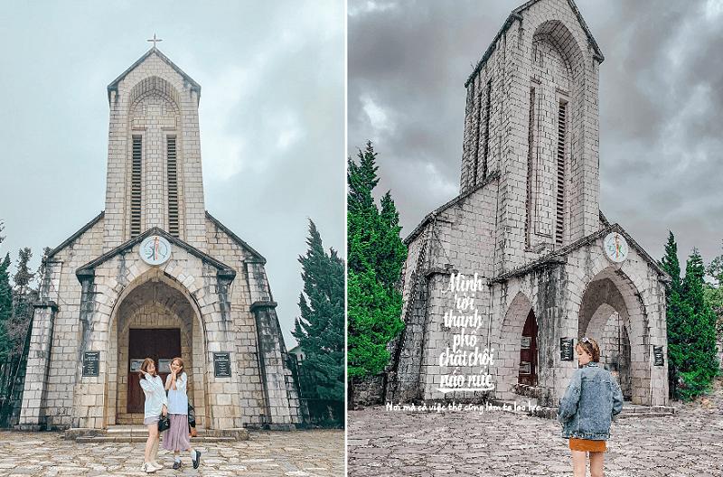 Sapa có gì đẹp? Địa điểm du lịch Sapa, nhà thờ đá Sapa