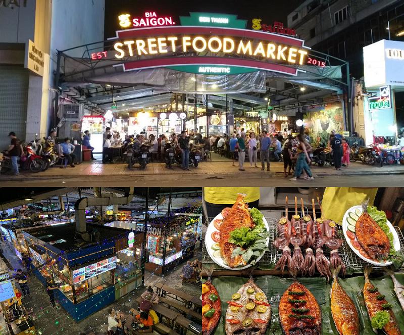Khu ăn uống Sài Gòn. Ăn ở đâu Sài Gòn? Chợ Bến Thành
