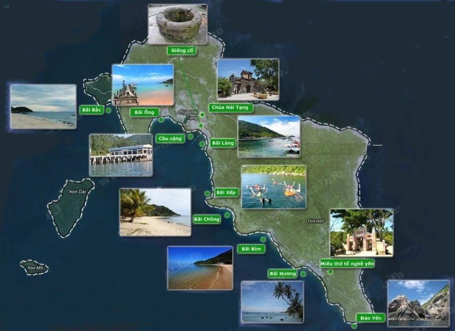 Kinh nghiệm đi Cù Lao Chàm Đà Nẵng, bản đồ đảo Cù Lao Chám