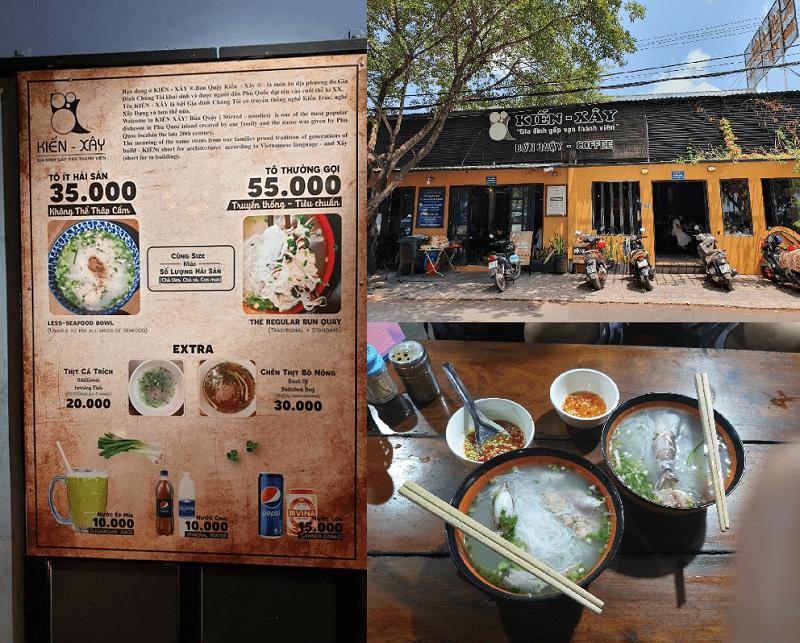 Các quán ăn ngon ở Phú Quốc. Địa chỉ ăn uống Phú Quốc. Bún quậy Kiến Xây