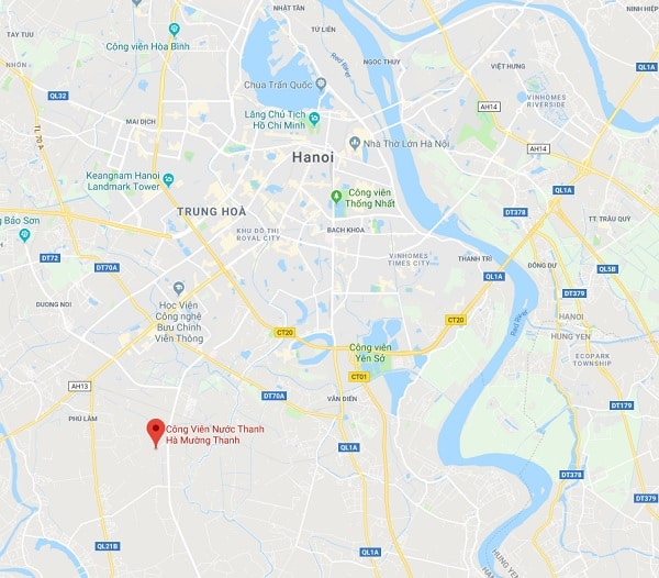 Công viên nước Thanh Hà ở đâu, giá vé bao nhiêu?