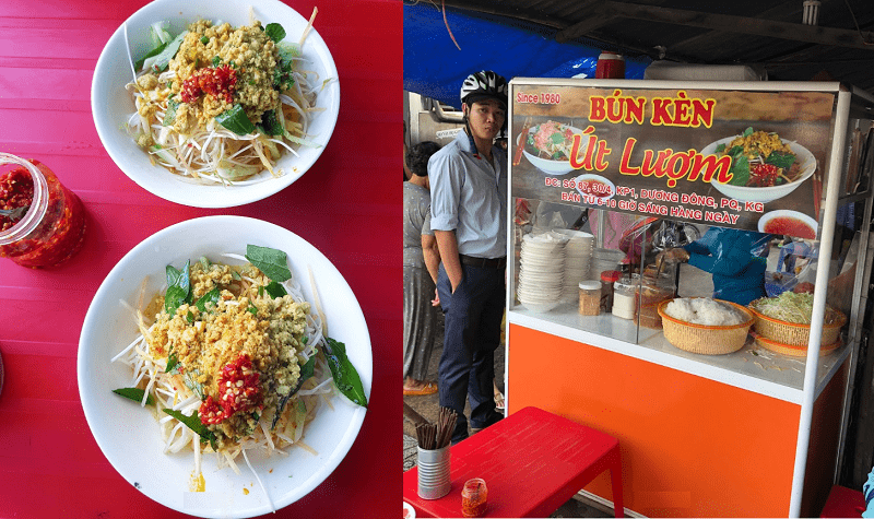 Địa chỉ quán ăn ngon nổi tiếng Phú Quốc. Ăn ở đâu Phú Quốc? Bún kèn Út Lượm