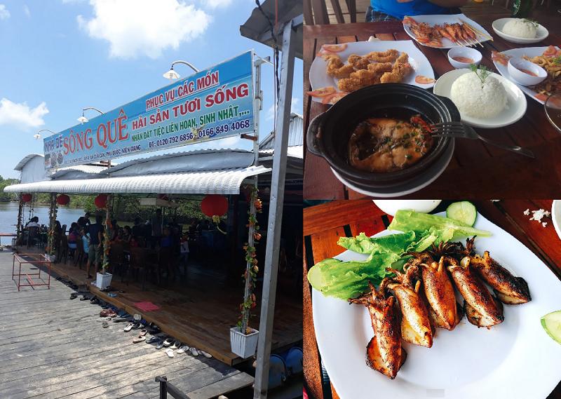 Những nhà hàng, quán ăn ngon rẻ ở Phú Quốc. Nhà hàng Sông Quê