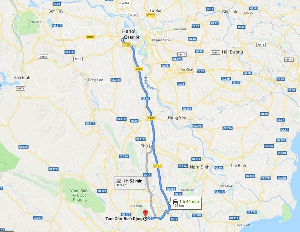 Kinh nghiệm du lịch Tam Cốc Bích Động tự túc: Hướng dẫn cách di chuyển tới Tam Cốc Bích Động từ Hà Nội