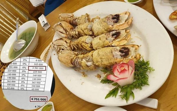 """""""Tiếc đứt ruột"""" khi lỡ vào nhà hàng hải sản bị chém đẹp 4 con bề bề giá 3 triệu"""