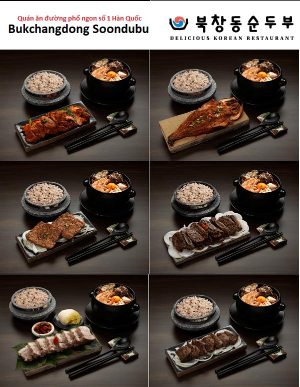 Các món ăn của quán ăn đường phố ngon nhất Hàn Quốc - Bukchangdong Soondubu