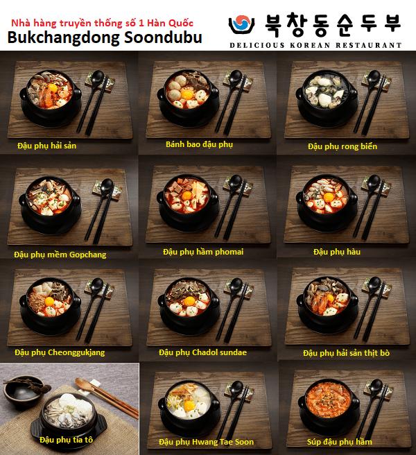 Review thực đơn nhà hàng truyền thống ngon nhất Hàn Quốc - Bukchangdong Soondubu