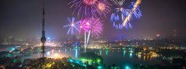 Xem bắn pháo hoa ở Hà Nội dịp Tết Nguyên Đán, bắn pháo hoa ở công viên Thống Nhất