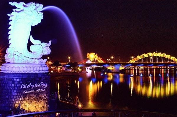 Chiêm ngưỡng vẻ đẹp thơ mộng của Đà Nẵng về đêm