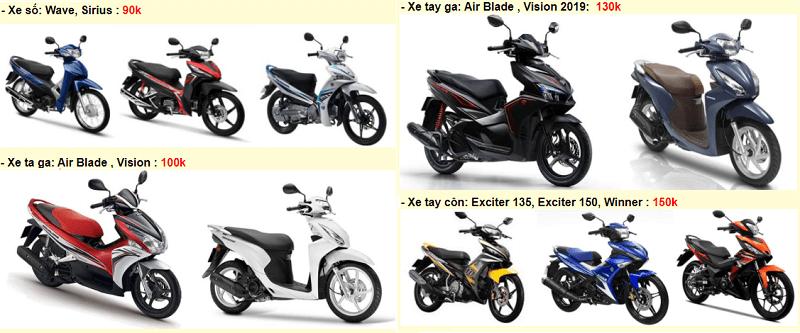 Địa chỉ cho thuê xe máy Đà Lạt, cho thuê xe máy Minh Khang