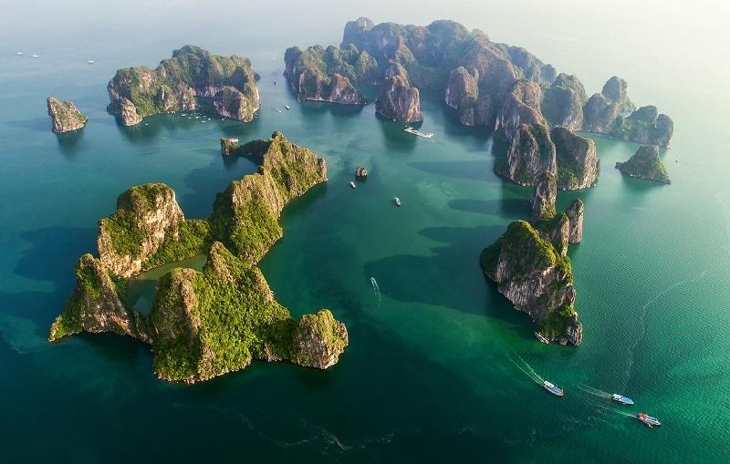 Việt Nam nhìn từ trên cao tuyệt đẹp
