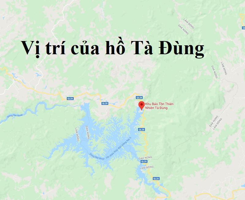 Check in hồ Tà Đùng, vị trí của hồ Tà Đùng trên bản đồ. Review du lịch Hồ Tà Đùng